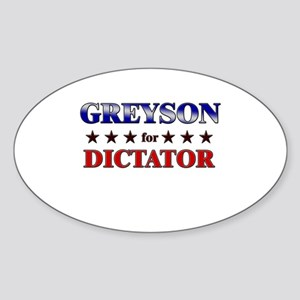 GREYSON for dictator Oval Sticker