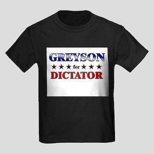 GREYSON for dictator Kids Dark T-Shirt