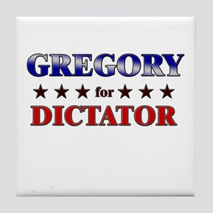 GREGORY for dictator Tile Coaster