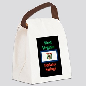 Berkeley Springs West Virginia Canvas Lunch Bag