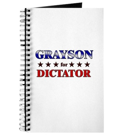 GRAYSON for dictator Journal