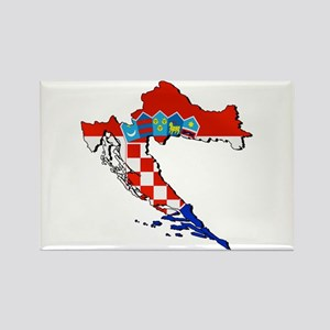 Flag Map Of Croatia Magnets