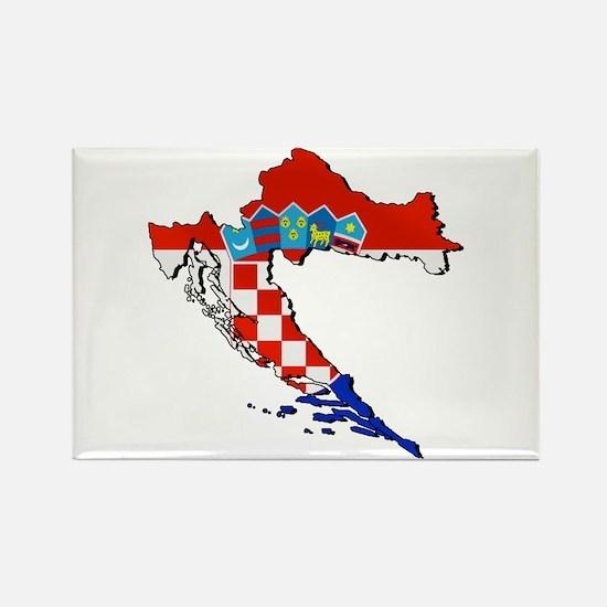 Flag Map Of Croatia Magnets