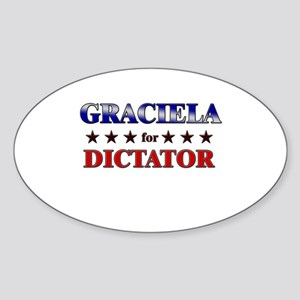 GRACIELA for dictator Oval Sticker
