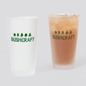 Bushcraft with Trees Drinking Glass