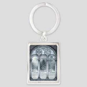 Gothic Winter Vault Portrait Keychain