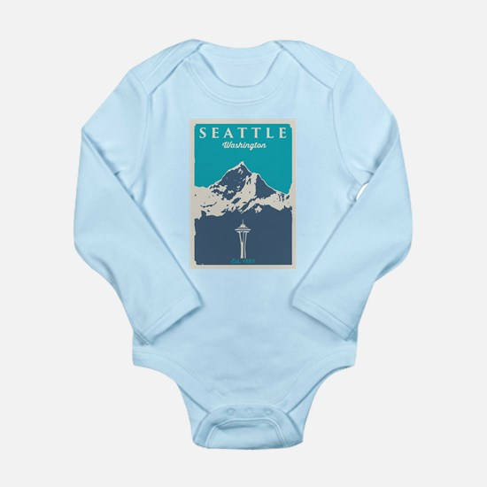 Seattle. Long Sleeve Infant Bodysuit