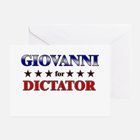 GIOVANNI for dictator Greeting Card