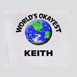 World's Okayest Keith Throw Blanket
