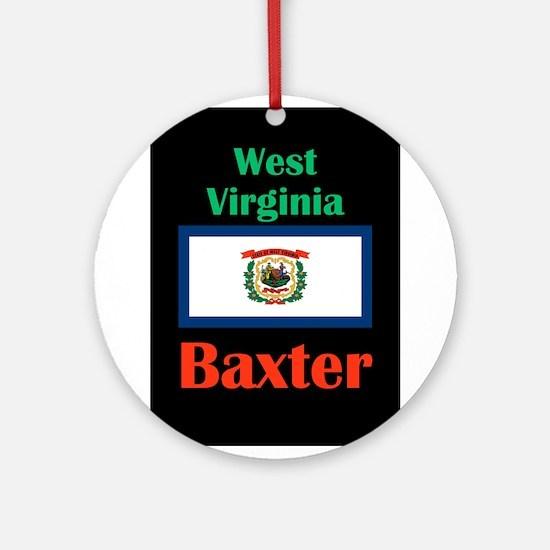 Baxter West Virginia Round Ornament