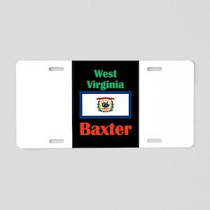 Baxter West Virginia Aluminum License Plate