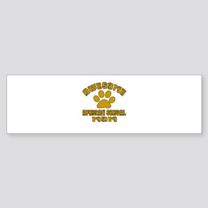 Awesome African serval Mom Design Sticker (Bumper)