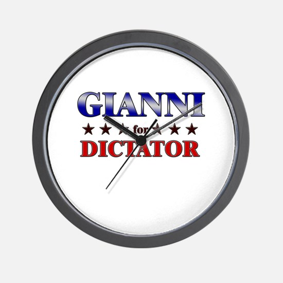 GIANNI for dictator Wall Clock