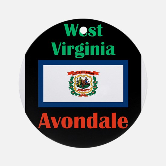 Avondale West Virginia Round Ornament