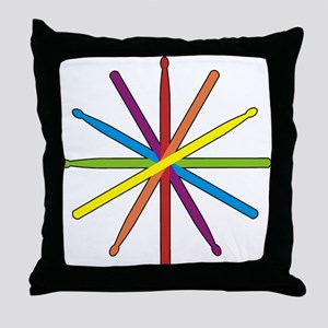Drumstick Star Throw Pillow