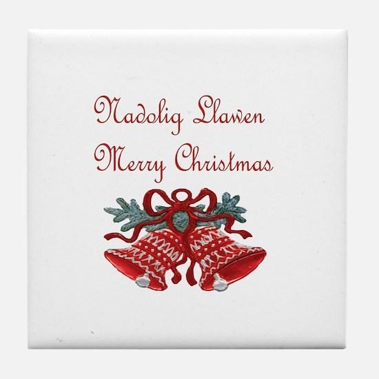 Welsh Christmas Tile Coaster