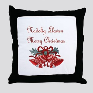 Welsh Christmas Throw Pillow