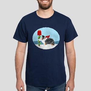 Tri Color Sheltie Mail Dark T-Shirt