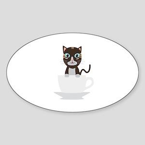 Cat in Cup Sticker