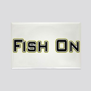 Fish On (2) Rectangle Magnet