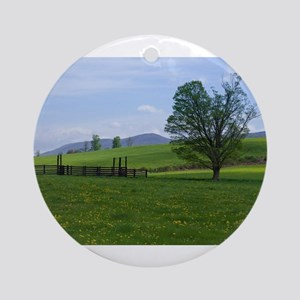 Farm on Henry Wood Road Round Ornament