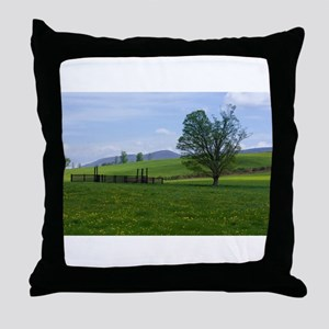 Farm on Henry Wood Road Throw Pillow
