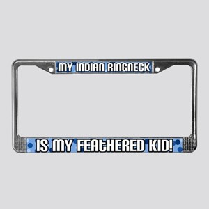 Indian Ringneck Feathered Kid License Plate Frame