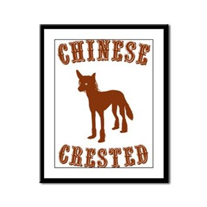 Chinese Crested Framed Panel Print