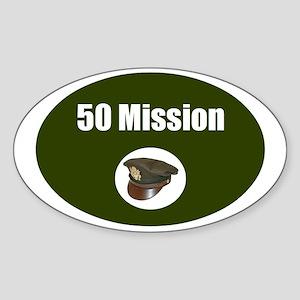 50 Mission Cap Sticker