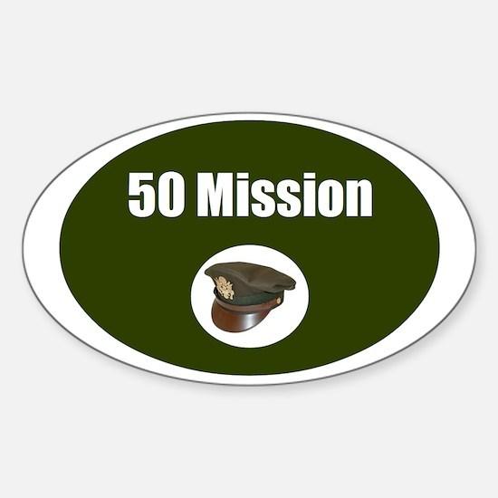 50 Mission Cap Decal