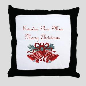 Thai Christmas Throw Pillow