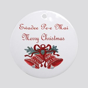Thai Christmas Ornament (Round)