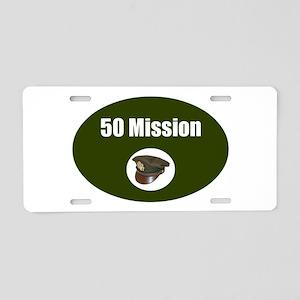 50 Mission Cap Aluminum License Plate