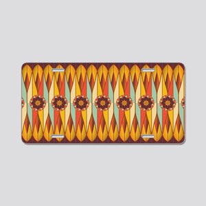 Colorful ethnic pattern Aluminum License Plate