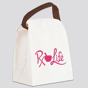 Pink Rx Life Canvas Lunch Bag