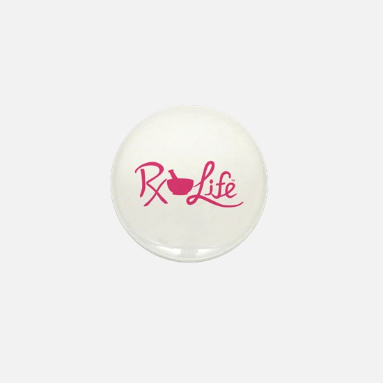 Pink Rx Life Mini Button