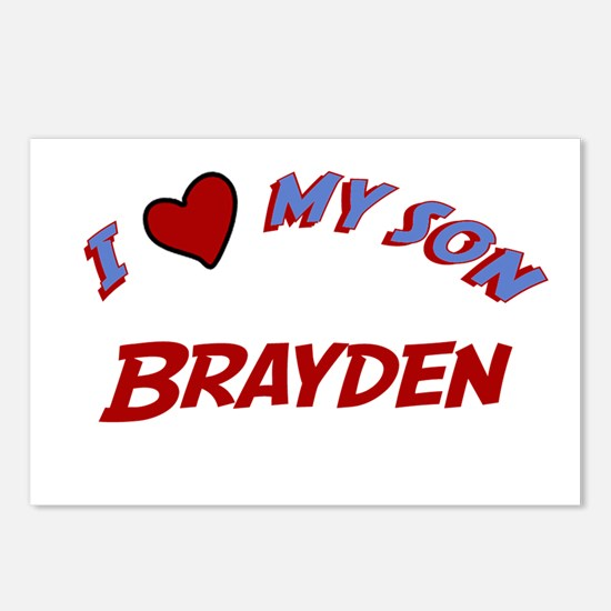 I Love My Son Brayden Postcards (Package of 8)