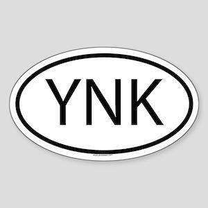YNK Oval Sticker