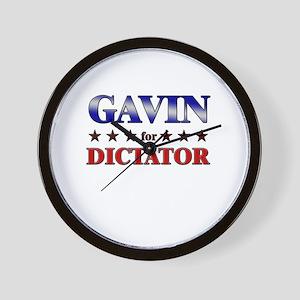 GAVIN for dictator Wall Clock