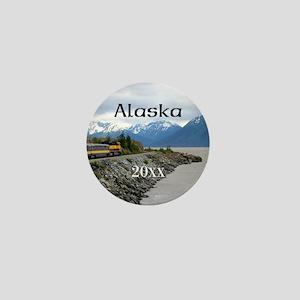Talkeetna to Whittier Alaska Train Pho Mini Button
