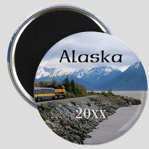 Talkeetna to Whittier Alaska Train Photo Cu Magnet
