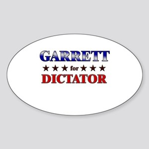 GARRETT for dictator Oval Sticker