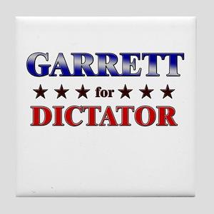 GARRETT for dictator Tile Coaster