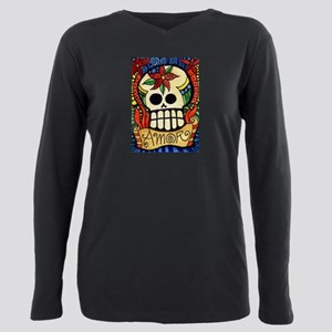 Amor Day of the Dead Sku Plus Size Long Sleeve Tee