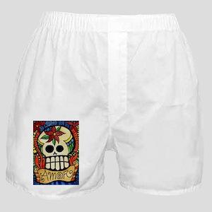 Amor Day of the Dead Skull Boxer Shorts