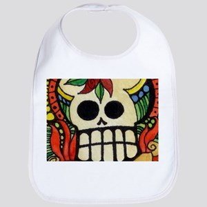Amor Day of the Dead Skull Bib
