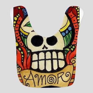 Amor Day of the Dead Skull Polyester Baby Bib