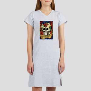 Amor Day of the Dead Skull Women's Nightshirt