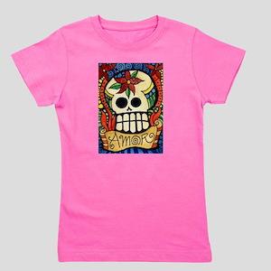 Amor Day of the Dead Skull Girl's Tee