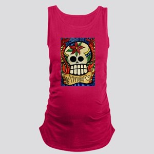 Amor Day of the Dead Skull Maternity Tank Top